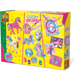 SES Creative Glitter unicorns 3 in 1