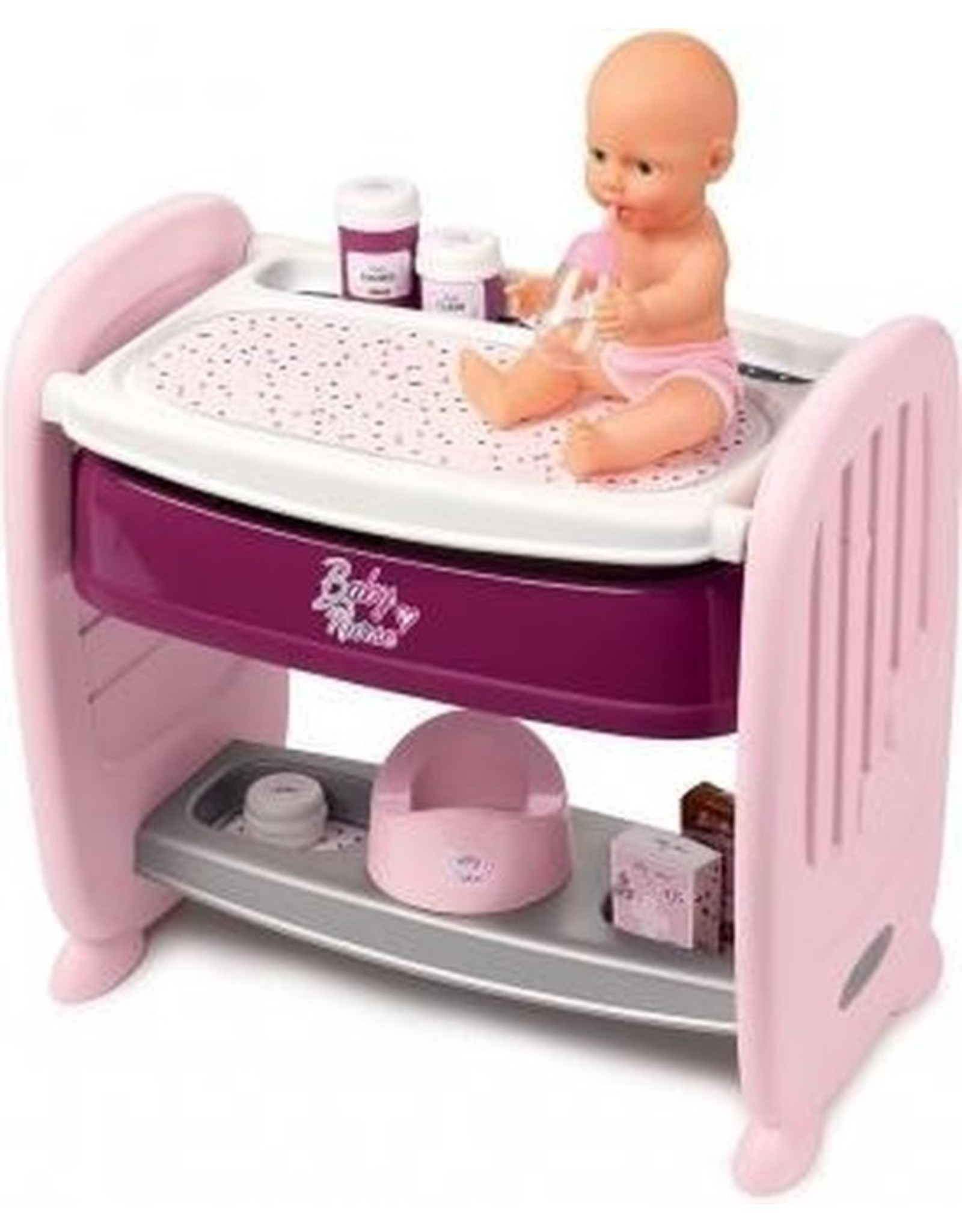 Smoby Smoby Baby Nurse  2 in 1 Poppenbed 220353