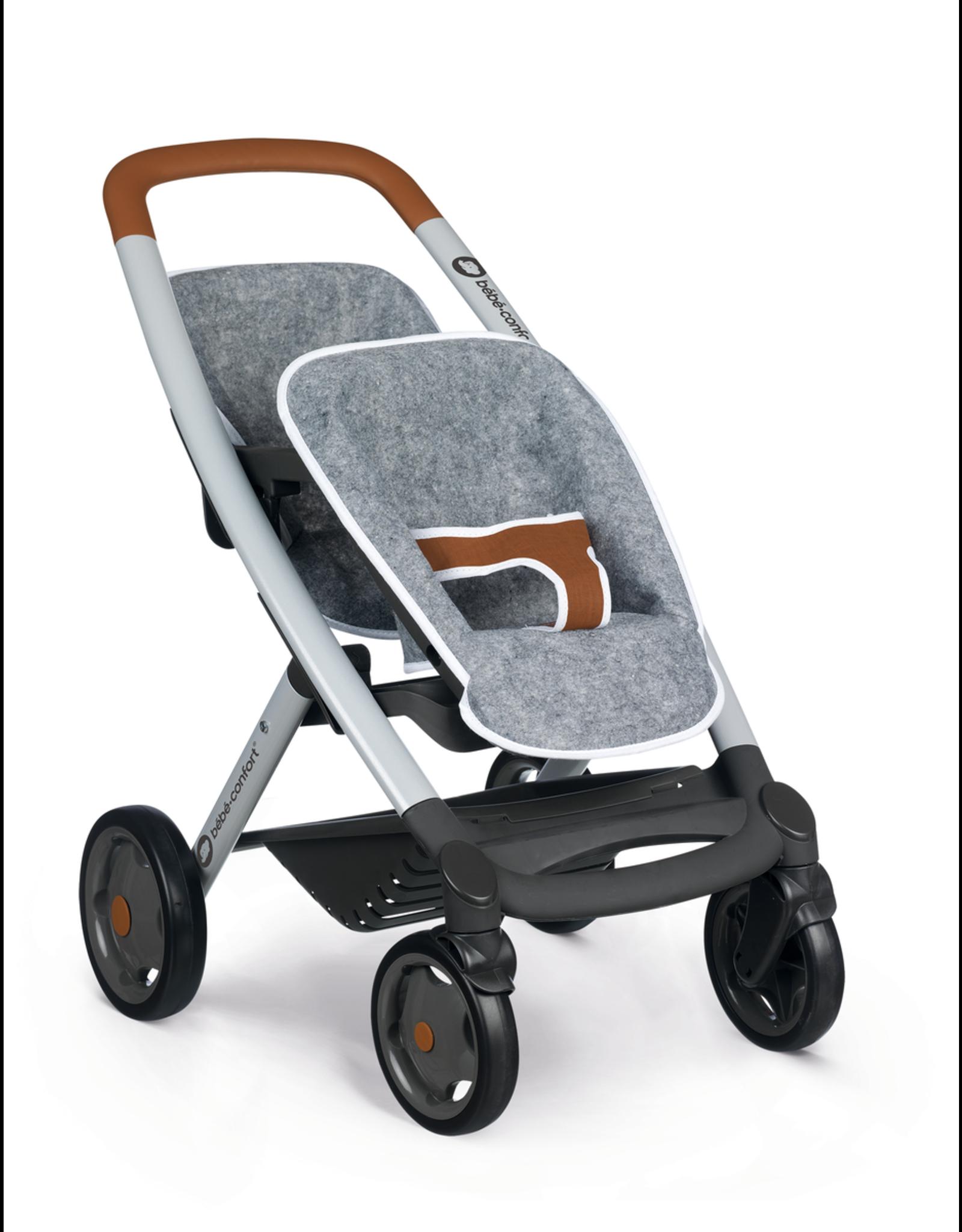 Smoby Smoby BB-Confort Tweeling kinderwagen grijs