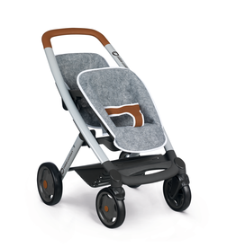 Smoby BB-Confort Tweeling kinderwagen grijs