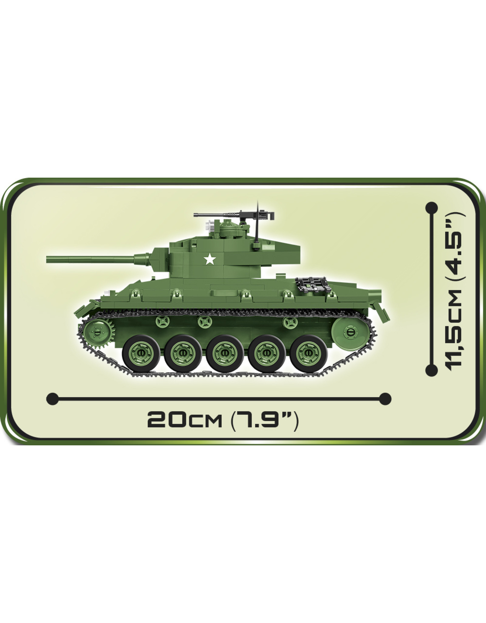 COBI COBI  2543 - M24 Chaffee