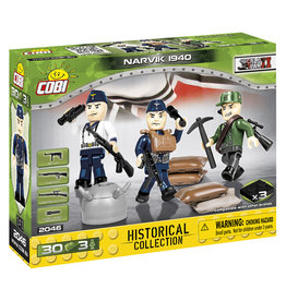 COBI COBI WW2  2046 - Figures German  Troops Narvik 1940