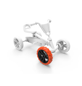 BERG Buzzy - Rad schwarz-orange 9x2 vorne rechts