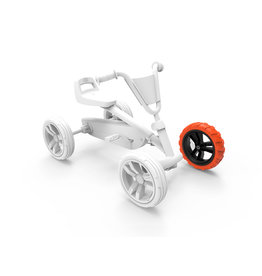 BERG Buzzy - Rad schwarz-orange 9x2 vorne links