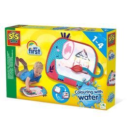 SES Creative Kleuren met water - Kleurmat olifant