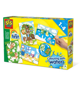 SES Creative Kleuren met water - Verborgen dieren