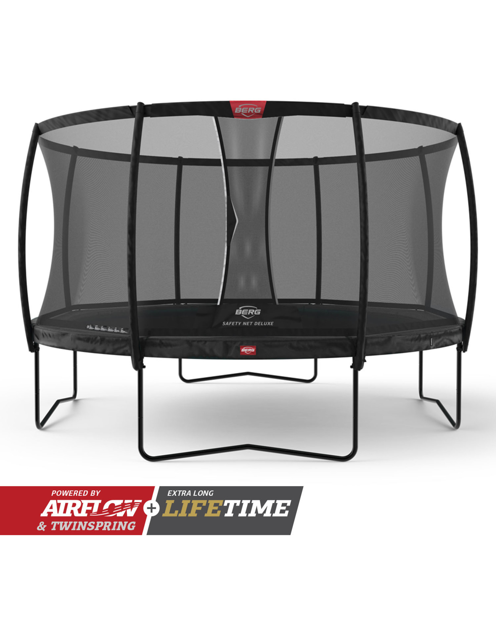 BERG BERG Champion Regular 430 zwart + Safety Net Deluxe