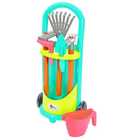 écoiffier Little Trolley with Garden Tools