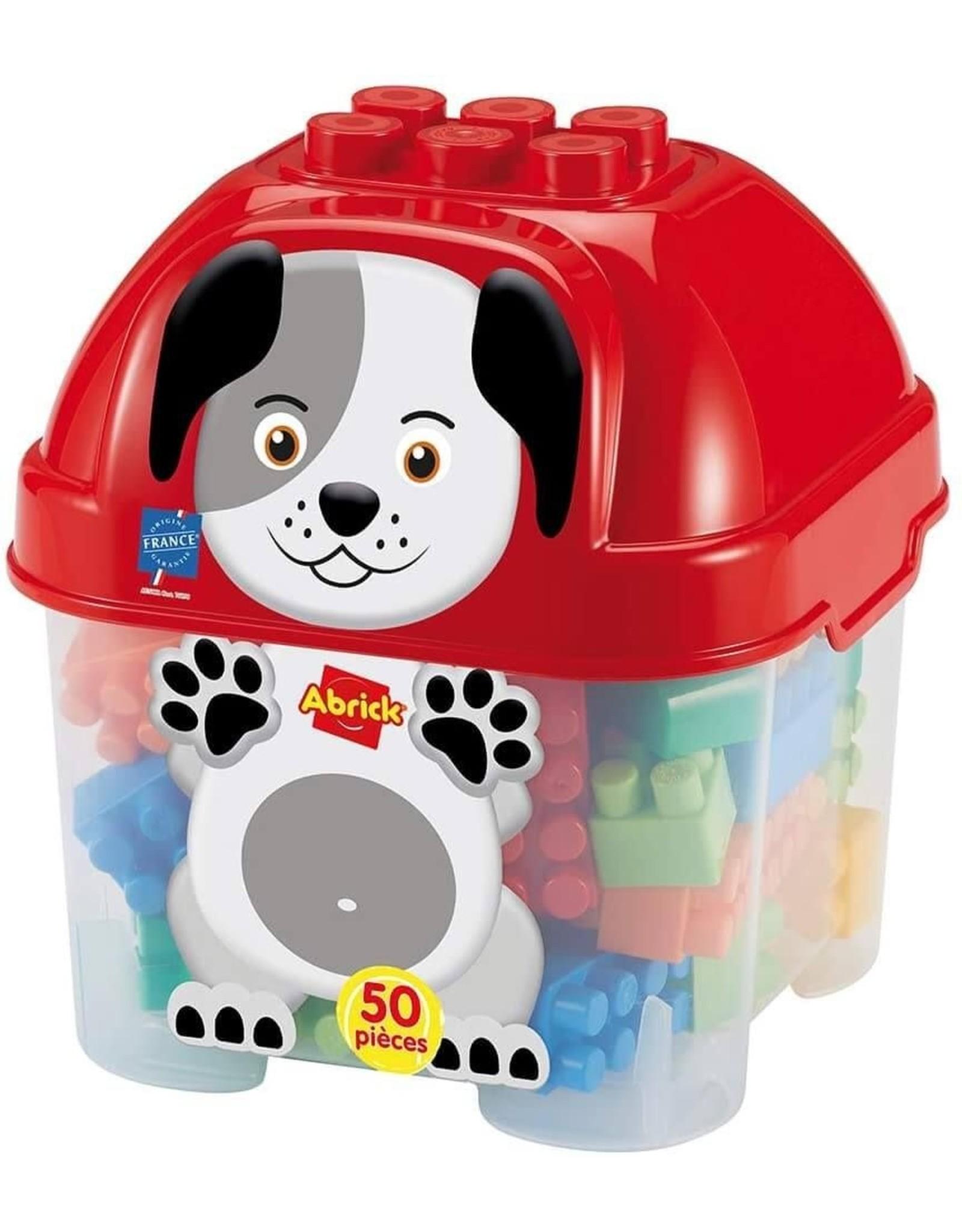 écoiffier Abrick Bausteine mit Aufbewahrungsbox Hund 50-teilig