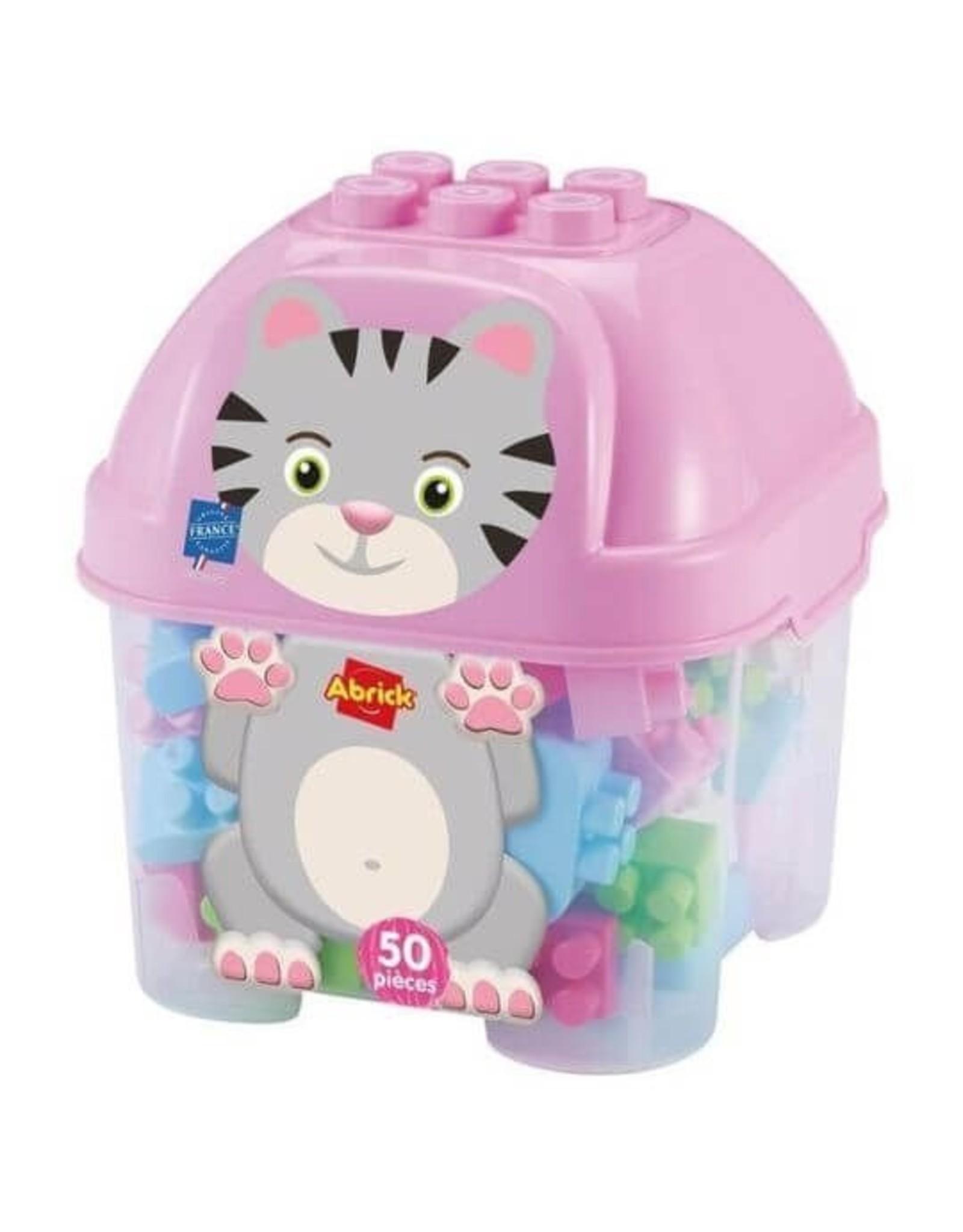 écoiffier Abrick Bausteine mit Aufbewahrungsbox Cat 50-teilig