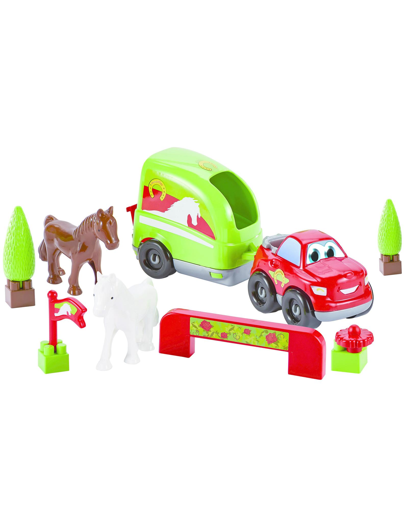 écoiffier Abrick Auto met Paardentrailer