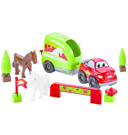 écoiffier Abrick Car with Horse Trailer