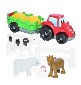 écoiffier Abrick tractor met aanhanger