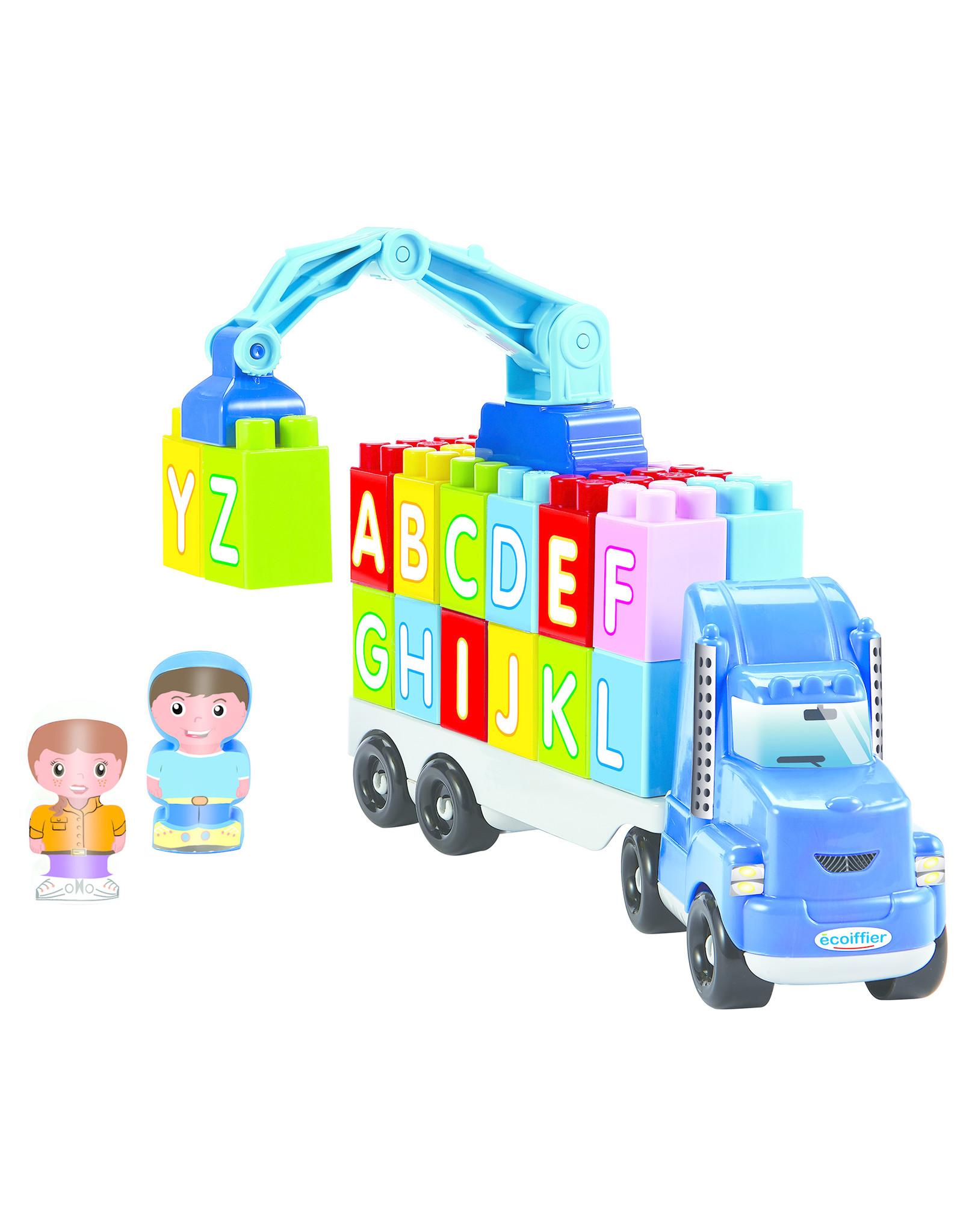 écoiffier Abrick Crane Truck mit Kran und Buchstaben