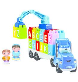 écoiffier Abrick Crane Truck with Crane and Letters