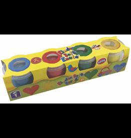 Feuchtmann  Kinder-Soft-Knete - weiche lufttrocknende Knetmasse - 4er-Pack - 600 Gramm