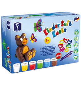 Feuchtmann  Kinder-Soft-Knete - zachte luchtdrogende boetseerklei - maxi - 900 gram