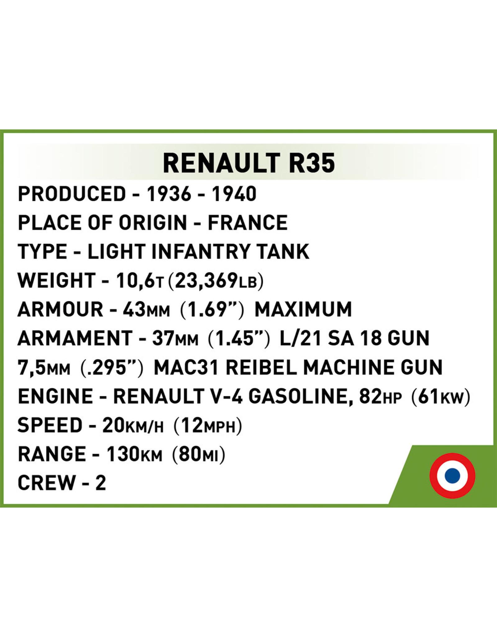COBI COBI WW2 2553 Renault R35
