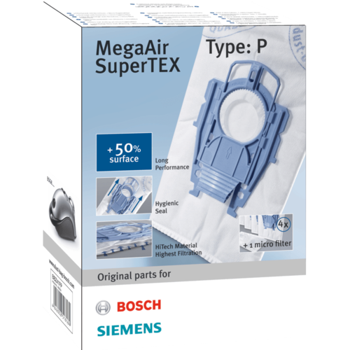 Bosch/Siemens Stofzuigerzakken fleece type P