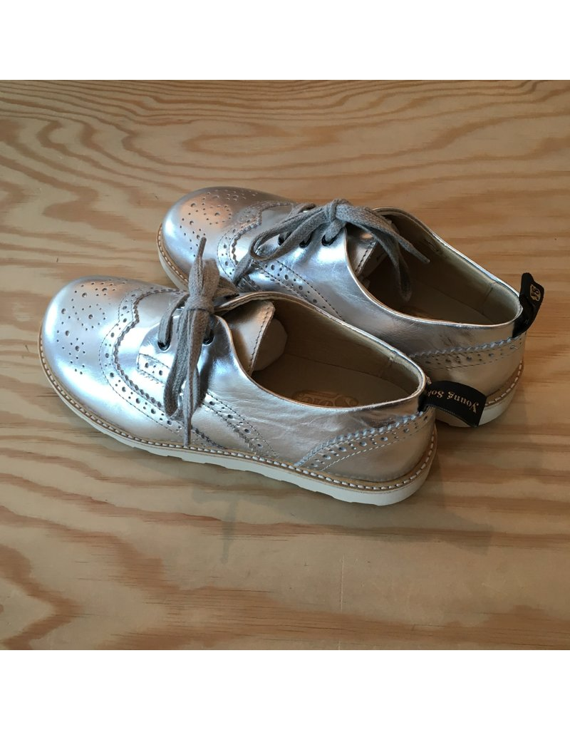 YOUNG SOLES YOUNG SOLES BRANDO SILVER LEATHER