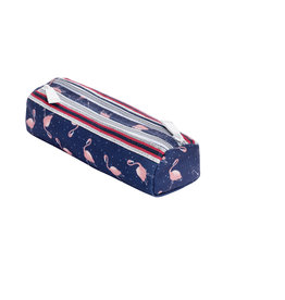 JEUNE PREMIER JEUNE PREMIER PENCIL CASE DOUBLE FLAMINGO