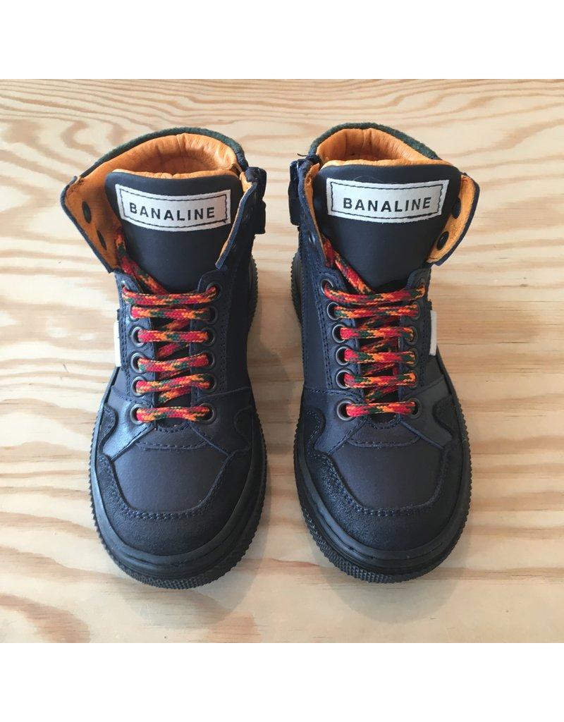 BANALINE BANALINE 32285 VIT OXFORD DRESS BLU