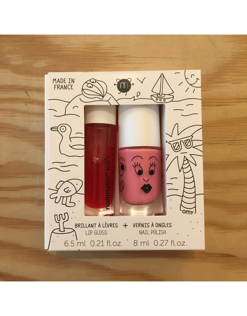 NAILMATIC NAILMATIC ROLLETTE FRAISE + VERNIS A L'EAU COOKIE 201 HOLIDAYS