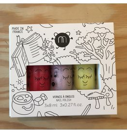 NAILMATIC NAILMATIC COFFRET 3 VERNIS A L'EAU 301 MAGIC FOREST SISSI ELLIOT LULU