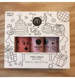 NAILMATIC NAILMATIC COFFRET 3 VERNIS A L'EAU 301 PARTY COOKIE BELLA POLLY