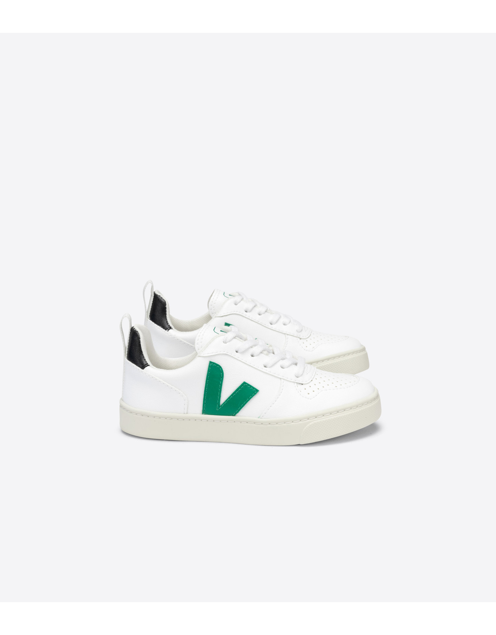 VEJA VEJA SMALL V10 LACES WHITE EMERAUDE BLACK