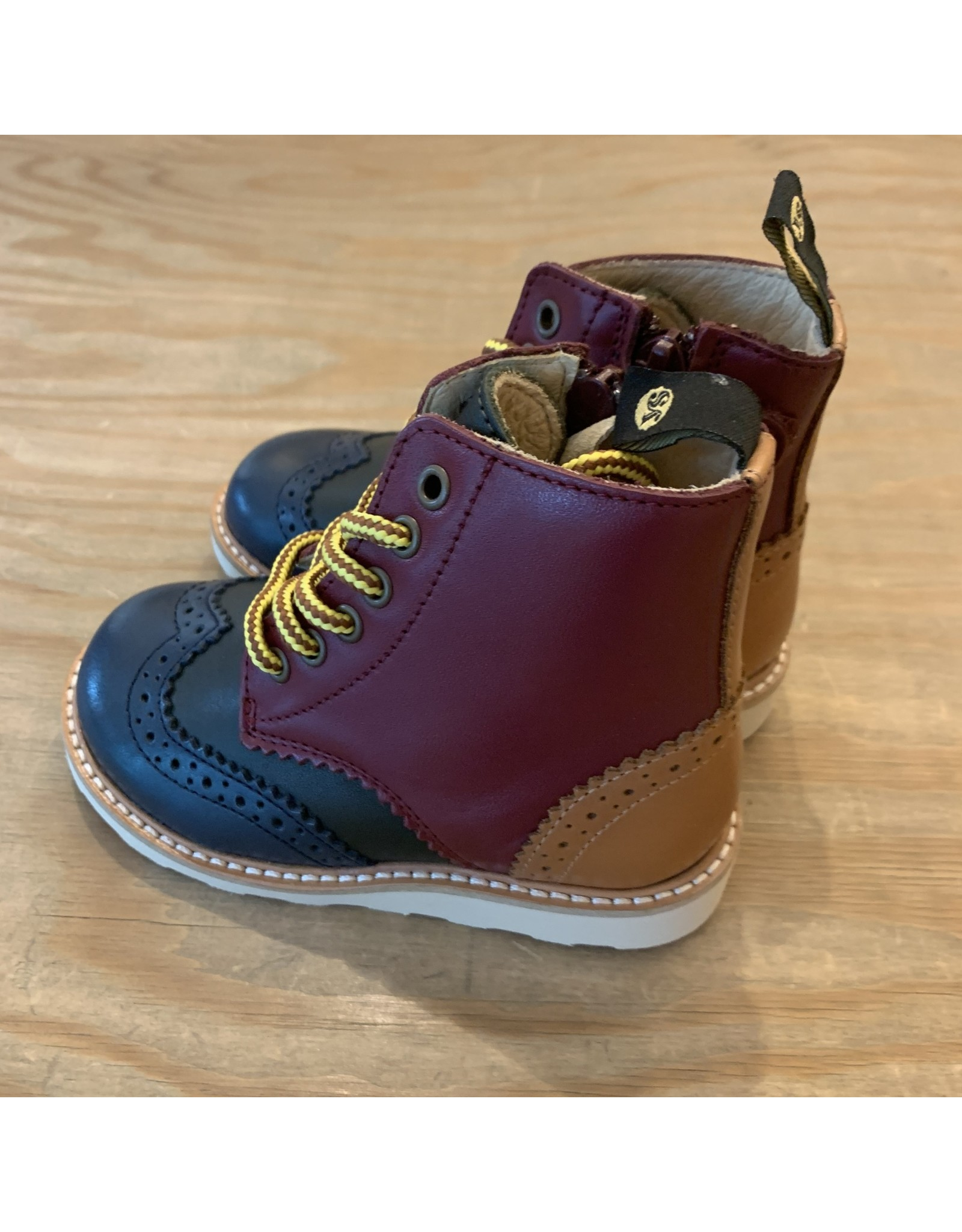 YOUNG SOLES YOUNG SOLES SIDNEY BROGUES MULTIBLOCK AUTUMNAL LEATHER