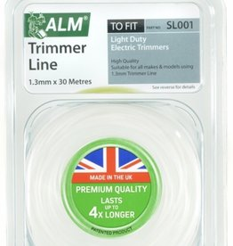 ALM LAWNMOWER SPARES Alm Trimmer Line - White 1.3mm x 30m