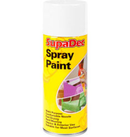 SupaDec Supadec Spray Paint 400ml Gloss white