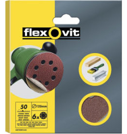 SAINT GOBAIN ABRASIVES Flexovit 125mm Sanding Discs X6 Medium velcro