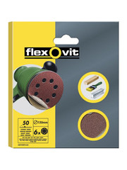 Flexovit Flexovit 125mm Sanding Discs X6 Fine velcro