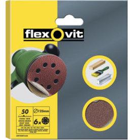 SAINT GOBAIN ABRASIVES Flexovit 125mm Sanding Discs X6 Fine velcro