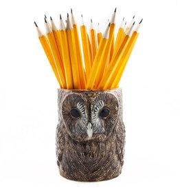 Quail Tawny Owl Pencil Pot