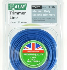 ALM LAWNMOWER SPARES Trimmer Line - Blue 1.5mm x 30m