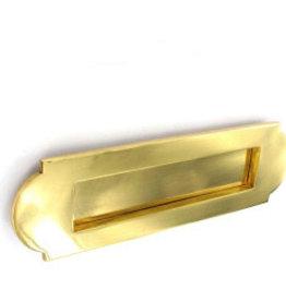 Securit Vic letter plate brs