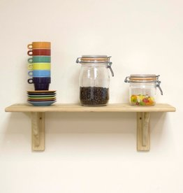 Core Natural Wood Shelf Kit Pine 585mm