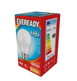 Eveready LED GLS BC Warm White 60w