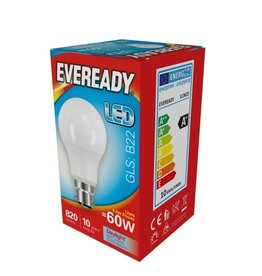 Eveready 60w BC LED GLS Daylight Non Dim