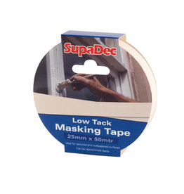 SupaDec Low tack Masking Tape 25mm x 50m