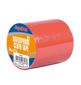 SupaDec Waterproof ClothTape Red 48mmx4.5m