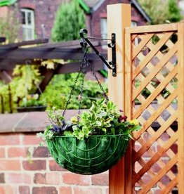 "SupaGarden 12"" Black hanging Basket Bracket"