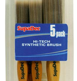 Hi-tech synthetic brushes 5pk
