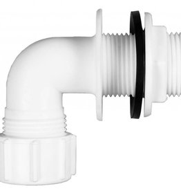 Oracstar 22mm White Overflow Tank Connector Bent