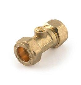 SupaPlumb 22mm Compression Isolating Valve Brass
