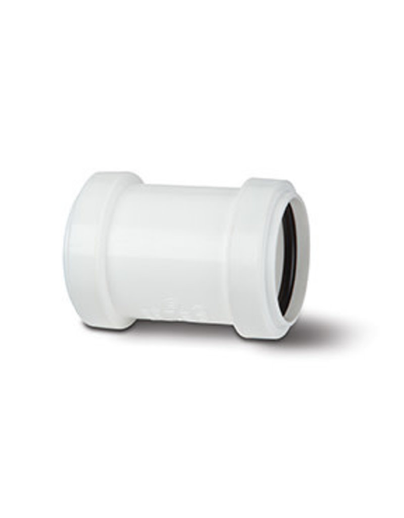 Make 40mm White Pushfit Waste Coupling