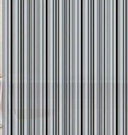 Blue Canyon Peva Shower Curtain 180x180cm Black Stripe